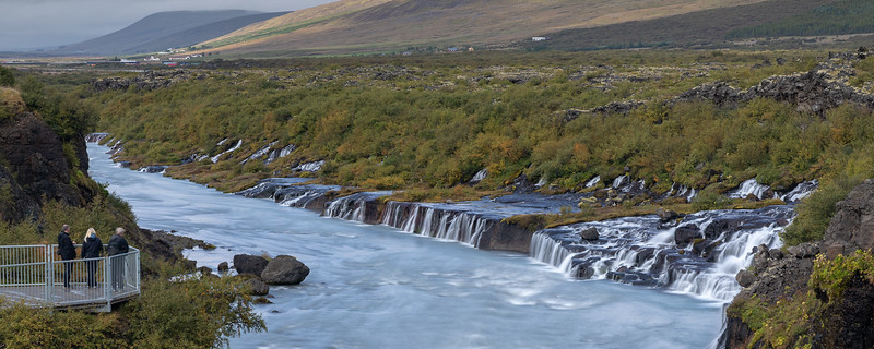 Hraunfossar waterfalls - West Iceland