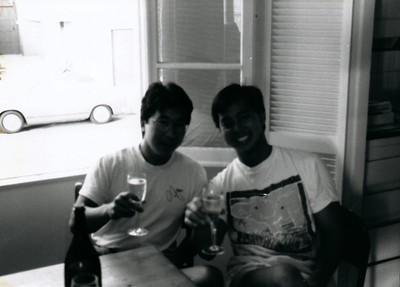 Cliff and Rance before Cliff leaves to Boston 1990