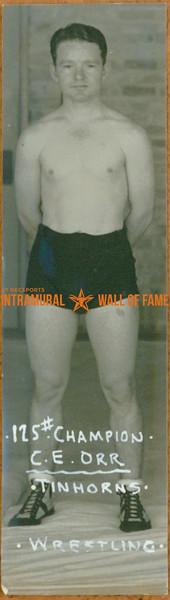 WRESTLING 125 lbs Champion  Tinhorns  C. E. Orr
