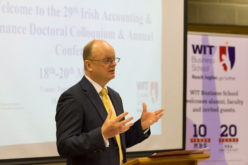 18/05/2016. Irish Accounting & Finance Accociation Annual Conference at WIT (Waterford Institute of Technology). Pictured speaking is Dr.  Tom  O'Toole. Picture: Patrick Browne