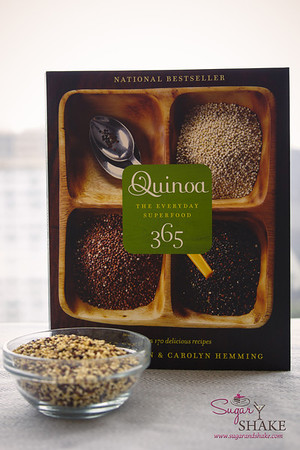 Quinoa 365: The Everyday Superfood by Patricia Green & Carolyn Hemming. (2010, Whitecap Books; ISBN 978-1-55285-994-0) © 2014 Sugar + Shake