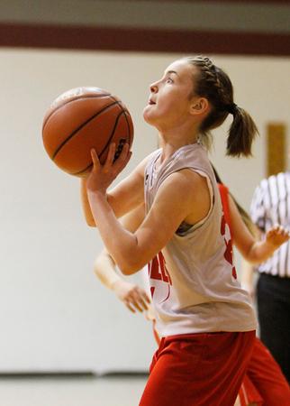 SNMS Girls Basketball 7-8 vs Attica 2013