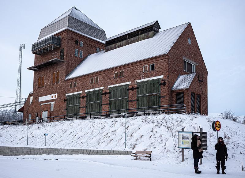 brick train station Abisko w Rebecca & companion.jpg