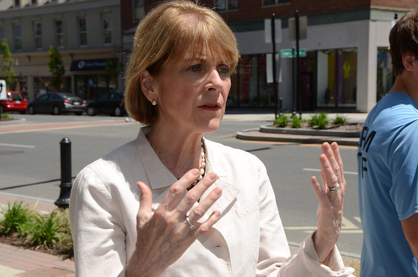 Attorney General Martha Coakley makes campaign stop in Pittsfield-060114