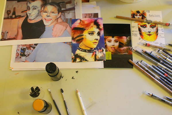 Cats Rehersal And Make-up Session