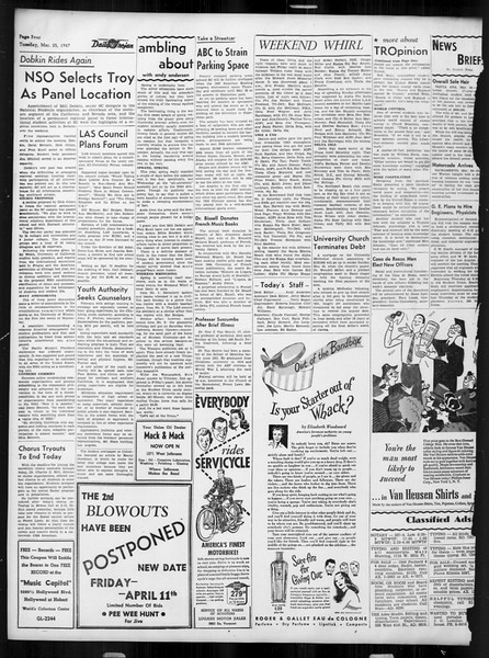 Daily Trojan, Vol. 38, No. 102, March 25, 1947