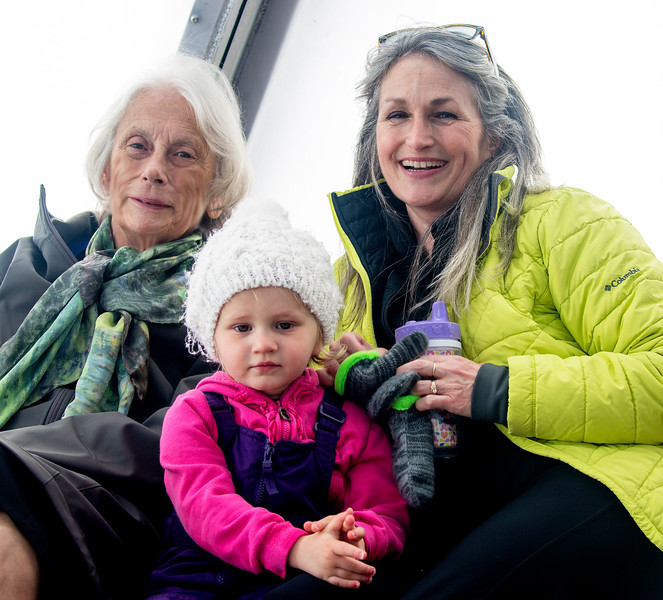 Carol with Grace and Sarah, who have just arrived.