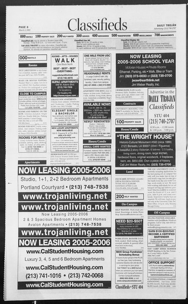 Daily Trojan, Vol. 154, No. 33, March 02, 2005