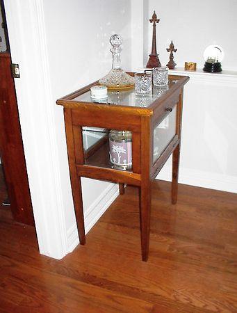 Downstairs Art Alcove - American oak chocolate cabinet, circa late 19th century