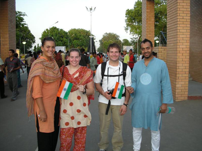 Waga: Cheryl Deutsch & Jon Deutsch with friends from Mumbai.