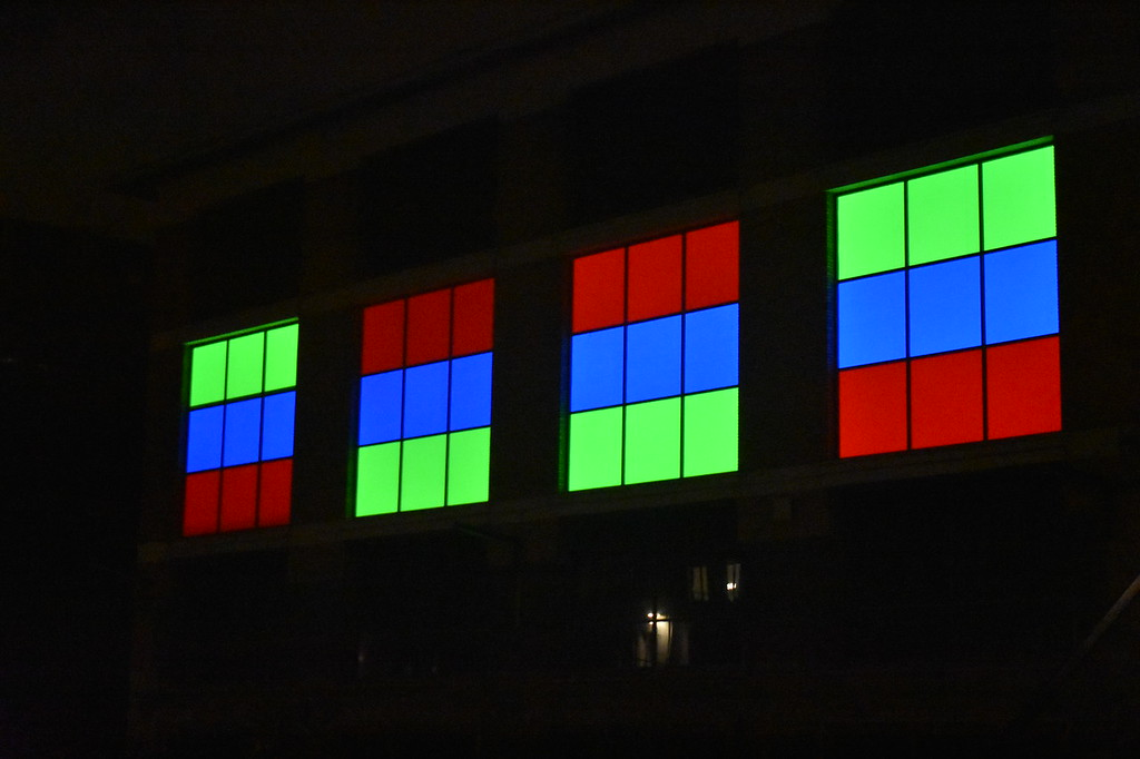 Ghent Light Festival art installation Time Colours by local Ghent resident Injas Devoldere