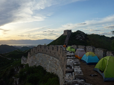 chen castle great wall hike camping