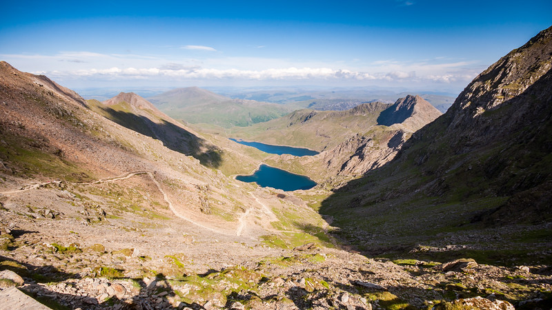Glaslyn valley on Snowdon mountain