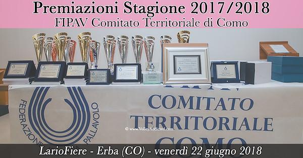 Premiazioni Stagione 2017/2018 FIPAV Como