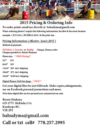 2015 Pricing & Ordering Info