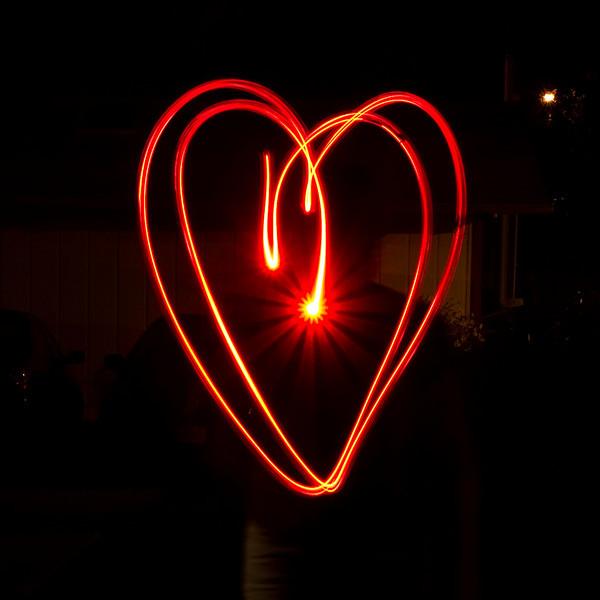 Light painted heart