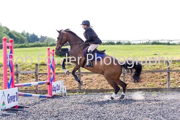 Gill Boulding riding Kaz