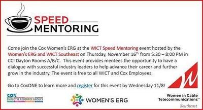 WICT/WERG Speed Mentoring Event