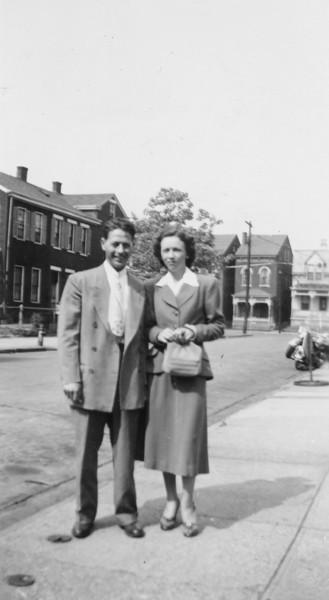 Elmer Ellis and Bertha Marshall Burgin in Newport, Kentucky