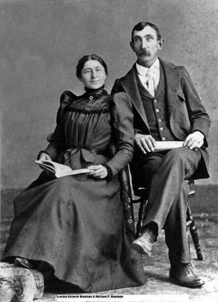 Louisa Scherer and Michael F Bauman.jpg