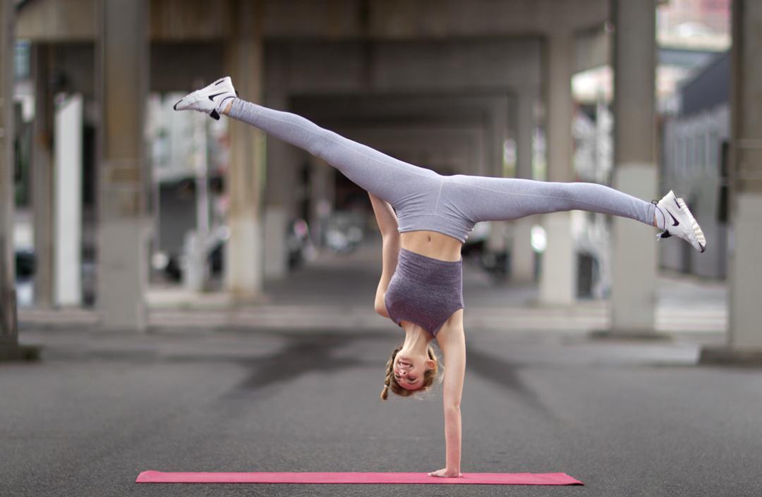 portfolio action photo of one handed cartwheel