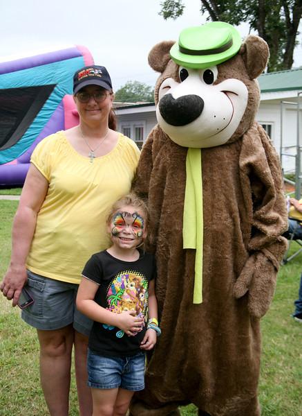 Linda Swann, Madison Shumaker, & Yogi Bear