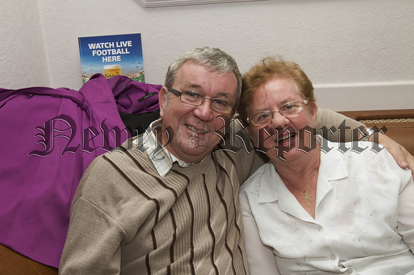 Charity Night in aid of Macmillan Nurses in the Armagh Down Bar on Saturday last.Peter and Elizabeth Treanor.10W45N719