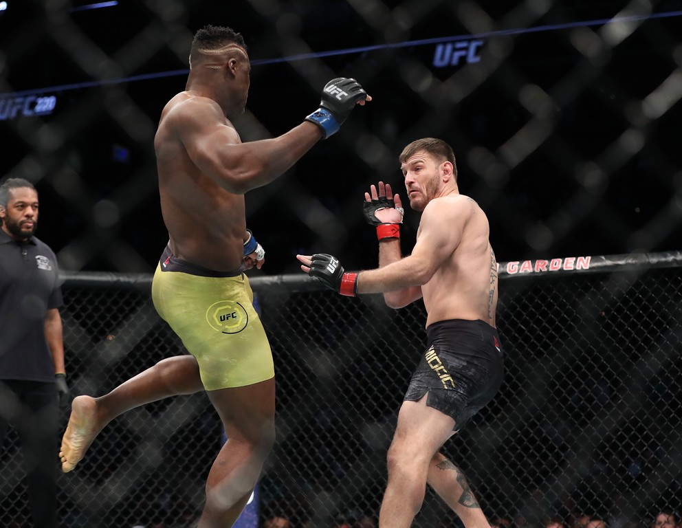 . Tim Phillis - The News-Herald Photos from the Stipe Miocic vs. Francis Ngannou fight at  UFC 220 on Jan. 20 in Boston. Miocic won by unanimous decision.
