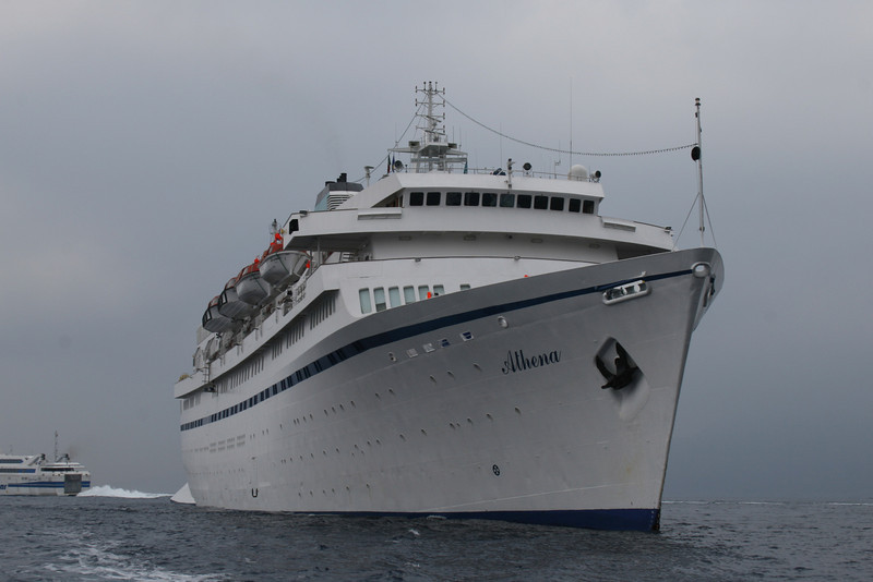 M/S ATHENA : a cloudy day at sea.