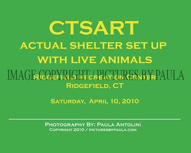 CTSART Live Animal Shelter Set Up ~ Ridgefield, CT ~ 4-10-10