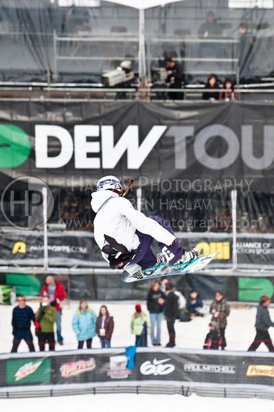 2010 Winter Dew Tour - Womens Snowboard Superpipe