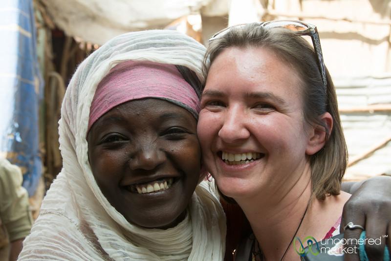 Audrey's New Friend at the Gondar Market, Ethiopia
