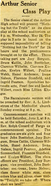 AR006.  Arthur Senior Class Play – news clipping - 1934.jpg