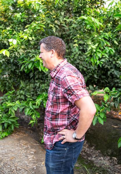Mark Rose in mandarin field.