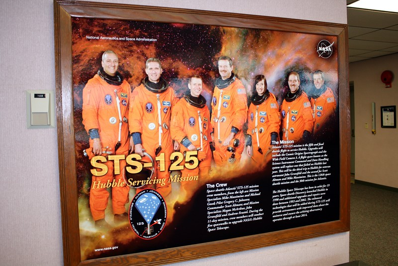 Crew of STS-125 on Space Shuttle Atlantis