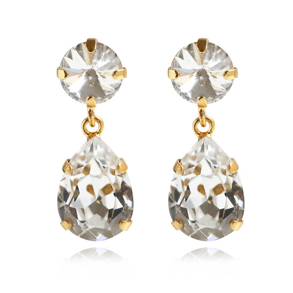 Classic Drop Earrings / Crystal Gold