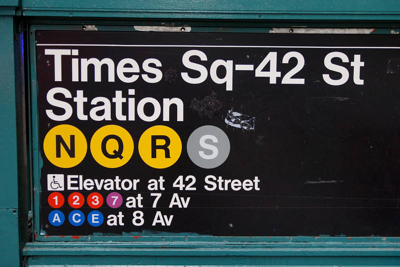 "Take the ""Q"" train to Times Square"