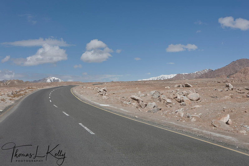New pitched road on the way to Alchi. Ladakh, India.