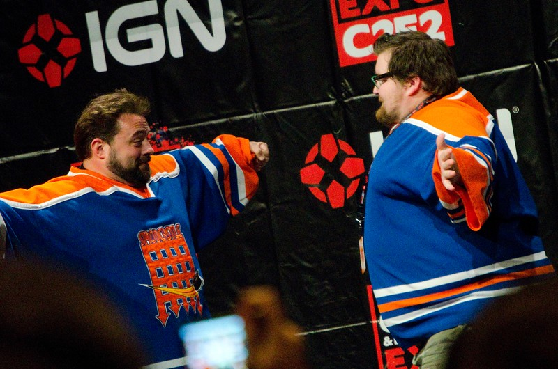 Kevin Smith and a Fan