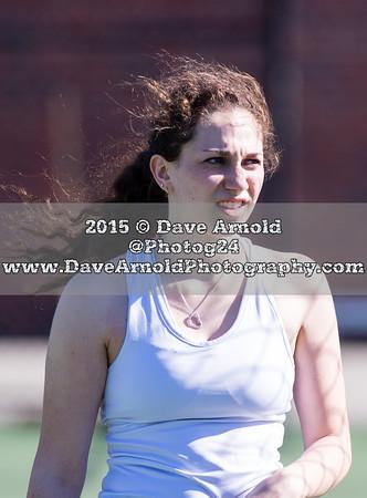 4/15/2015 - Girls Varsity Tennis - Braintree vs  Needham