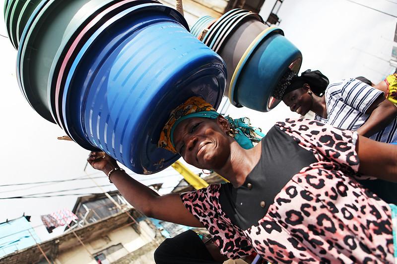 Ivory Coast - Adjame Market in Abidjan