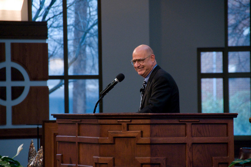 """World reknown preacher, Tony Campolo, """"orders"""" everyone to give twice as much money to the Fuller Center as they were planning to give. sh"""