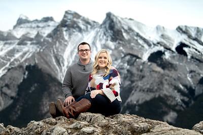 Cybil & Derek Engagement in Banff