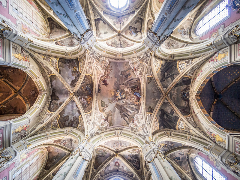 Ceiling of the Latin Cathedral, Lviv, Ukraine