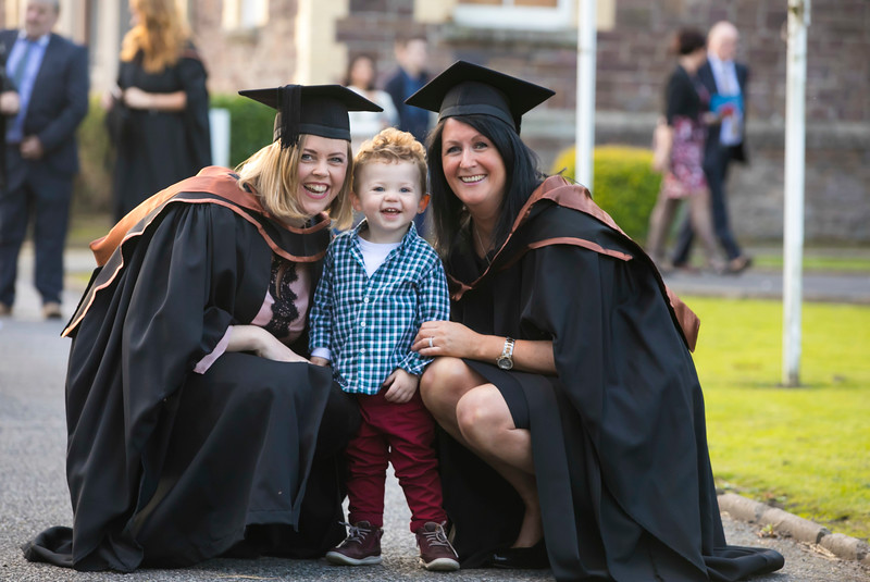 01/11/2017. Waterford Institute of Technology Conferring are Edwina Bell Dunmore East with her son Harvey and Catherine Doherty Waterford City who graduated HDip. in Science. Picture: Patrick Browne