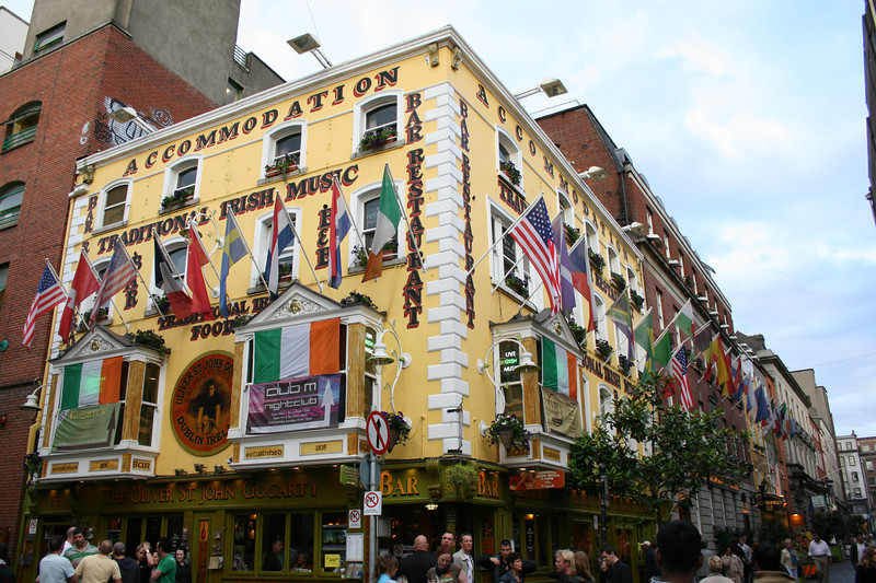 Oliver St John Gogarty's Irish Pub.  Accommodations and Traditional Irish Music.