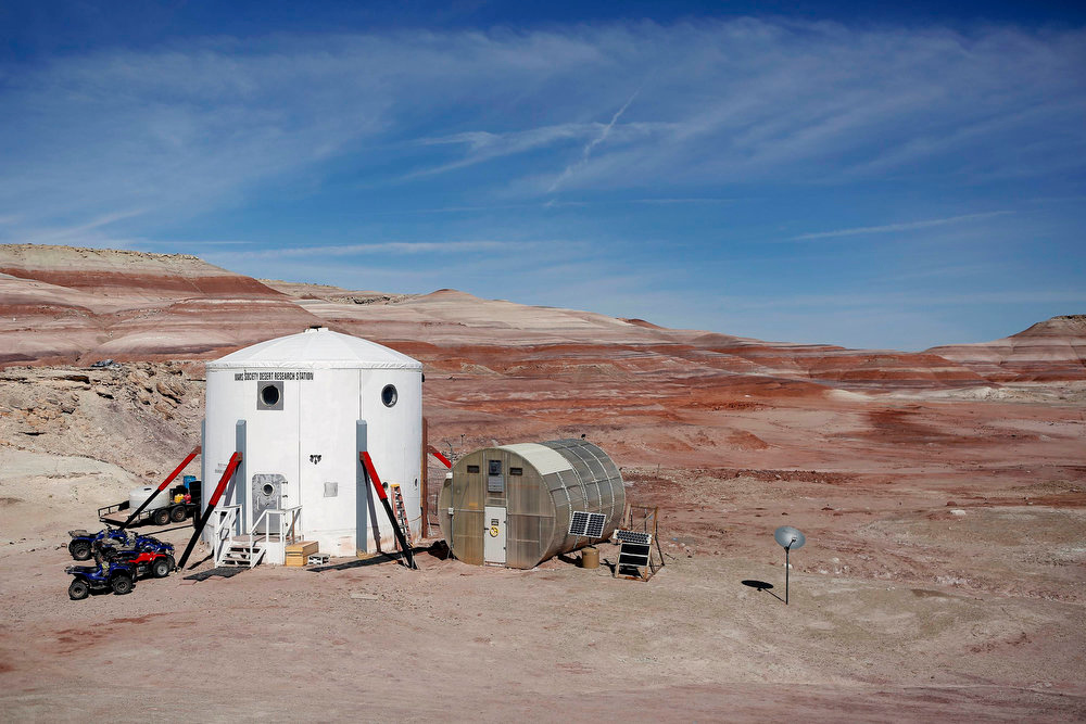 Description of . The Mars Desert Research Station (MDRS) is seen in the Utah desert March 2, 2013.  REUTERS/Jim Urquhart