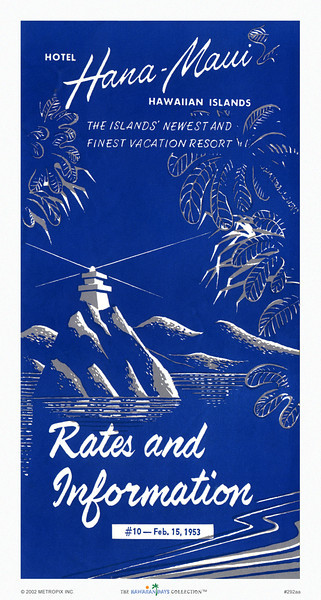 292: 'Hana Maui' Travel Brochure. Ca. 1937.