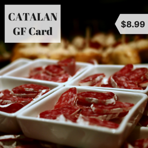 spain catalan gluten free restaurant card
