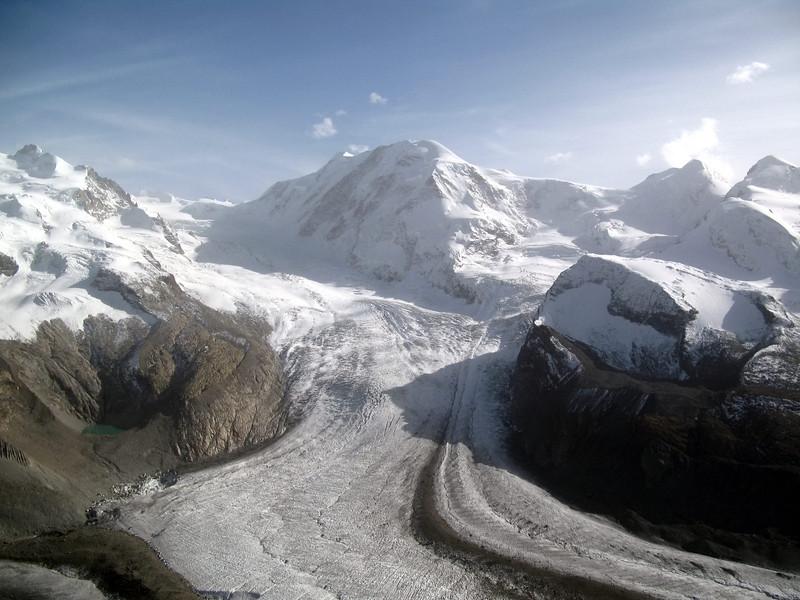 Gornergletscher ( Gorner Glacier) taken from Gornergrat